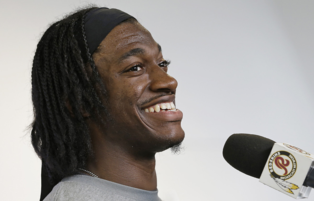 Robert Griffin III said he would be limited in practice he recovers from knee surgery on his right knee.