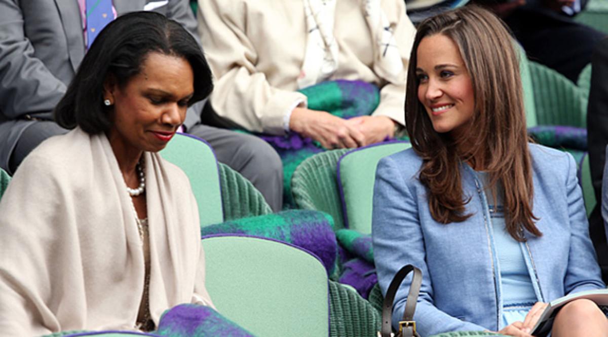 Condoleezza Rice and Pippa Middleton