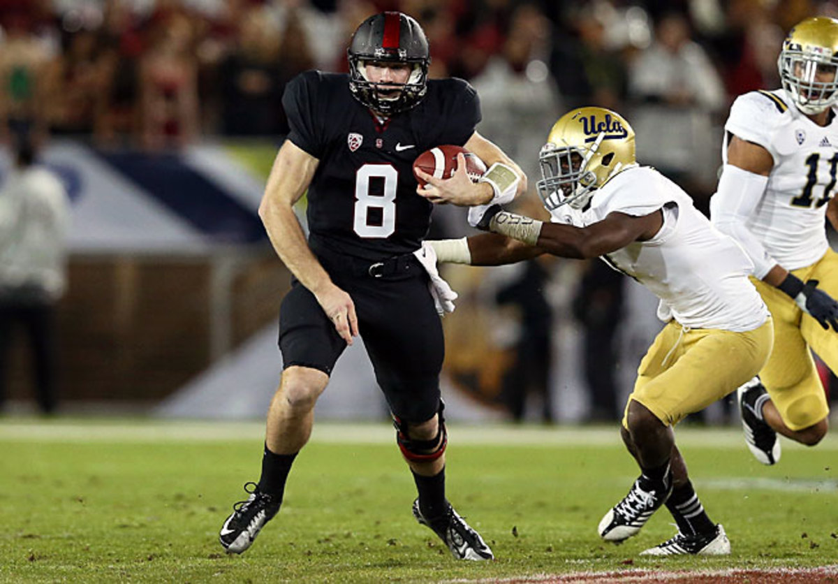 Ater taking over the starting job in November, QB Kevin Hogan (8) led Stanford to five consecutive wins.