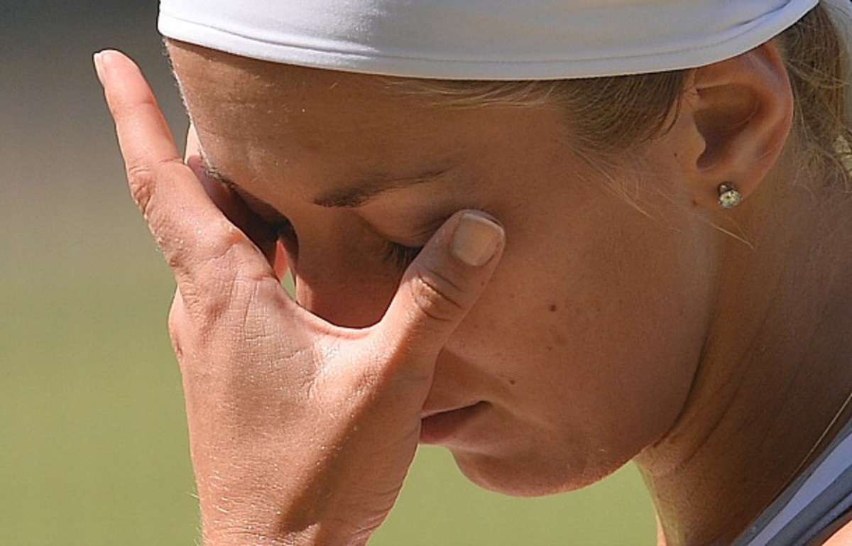 Sabine Lisicki lost six straight games to lose the first set. (Carl Court/AFP/Getty Images)