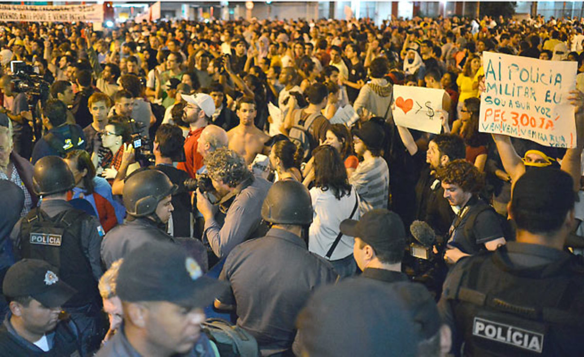 More than 1.5 million people protested against World Cup costs during the Confederations Cup in Brazil.