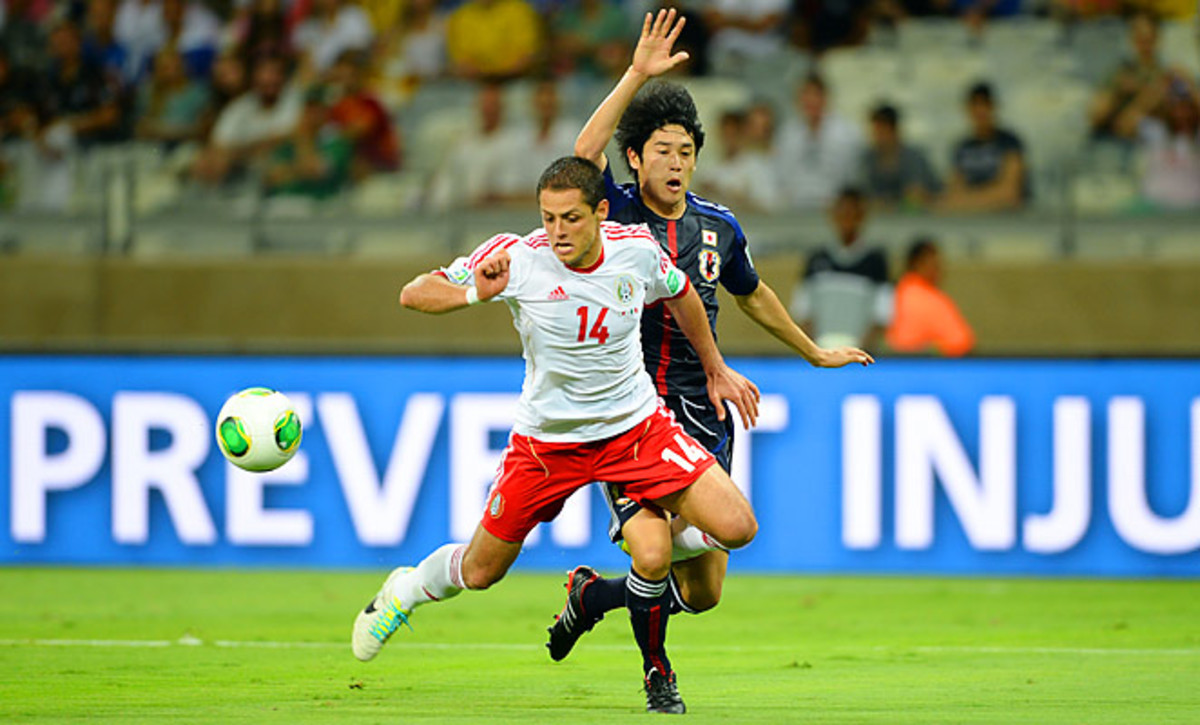 Javier 'Chicharito' Hernandez scored both goals as Mexico ended their run of bad results.