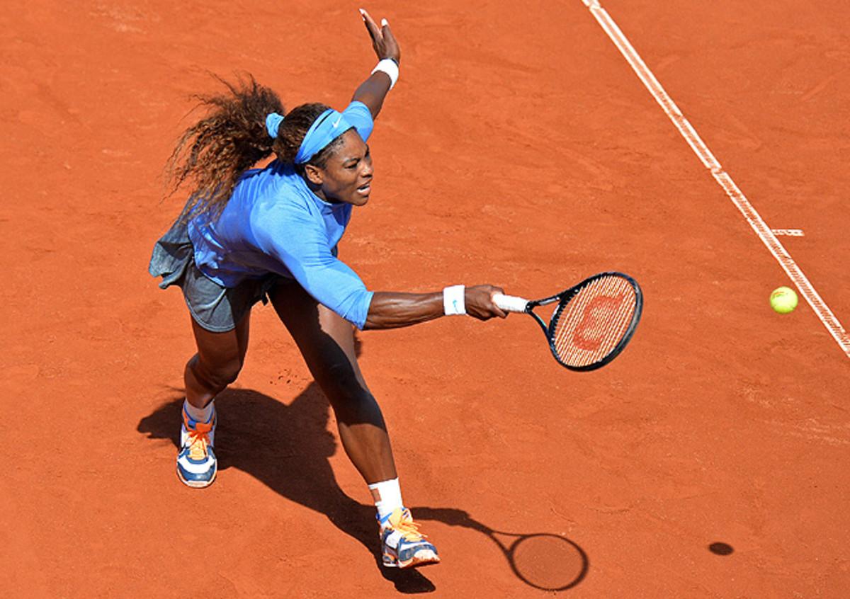 Serena Williams beat Lourdes Dominguez Lino 6-1, 6-1, and will face Klara Zakopalova in the semifinals.