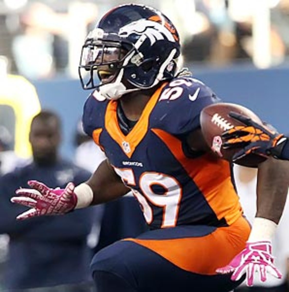 Unlike a premature Week 1 celebration that cost his team a touchdown, Danny Trevathan enjoyed every second of his celebration after intercepting Tony Romo.