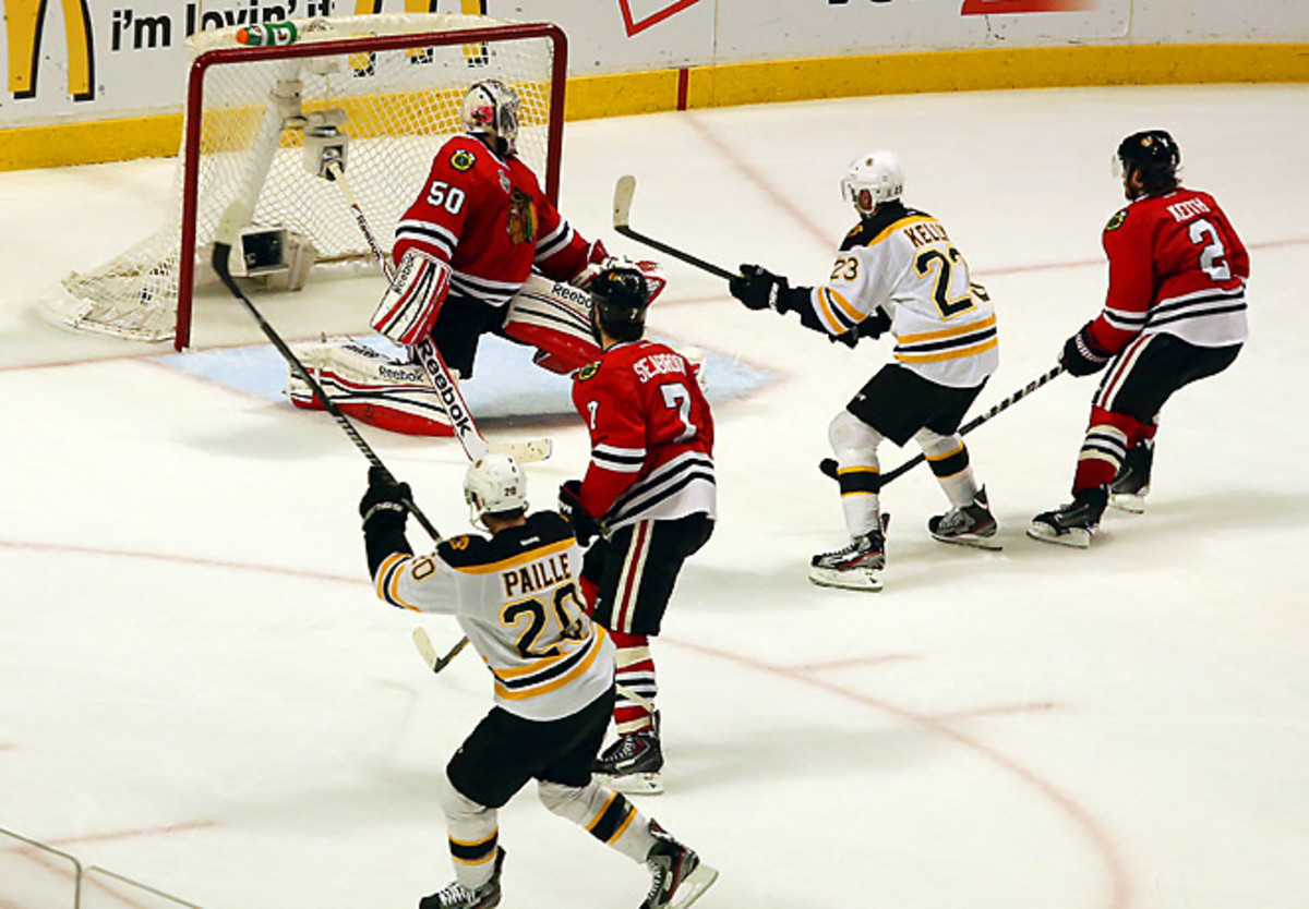 Daniel Paille is tied with David Krejci and Patrice Bergeron for second on the team in game-winning goals. (Tasos Katopodis/Getty Images)