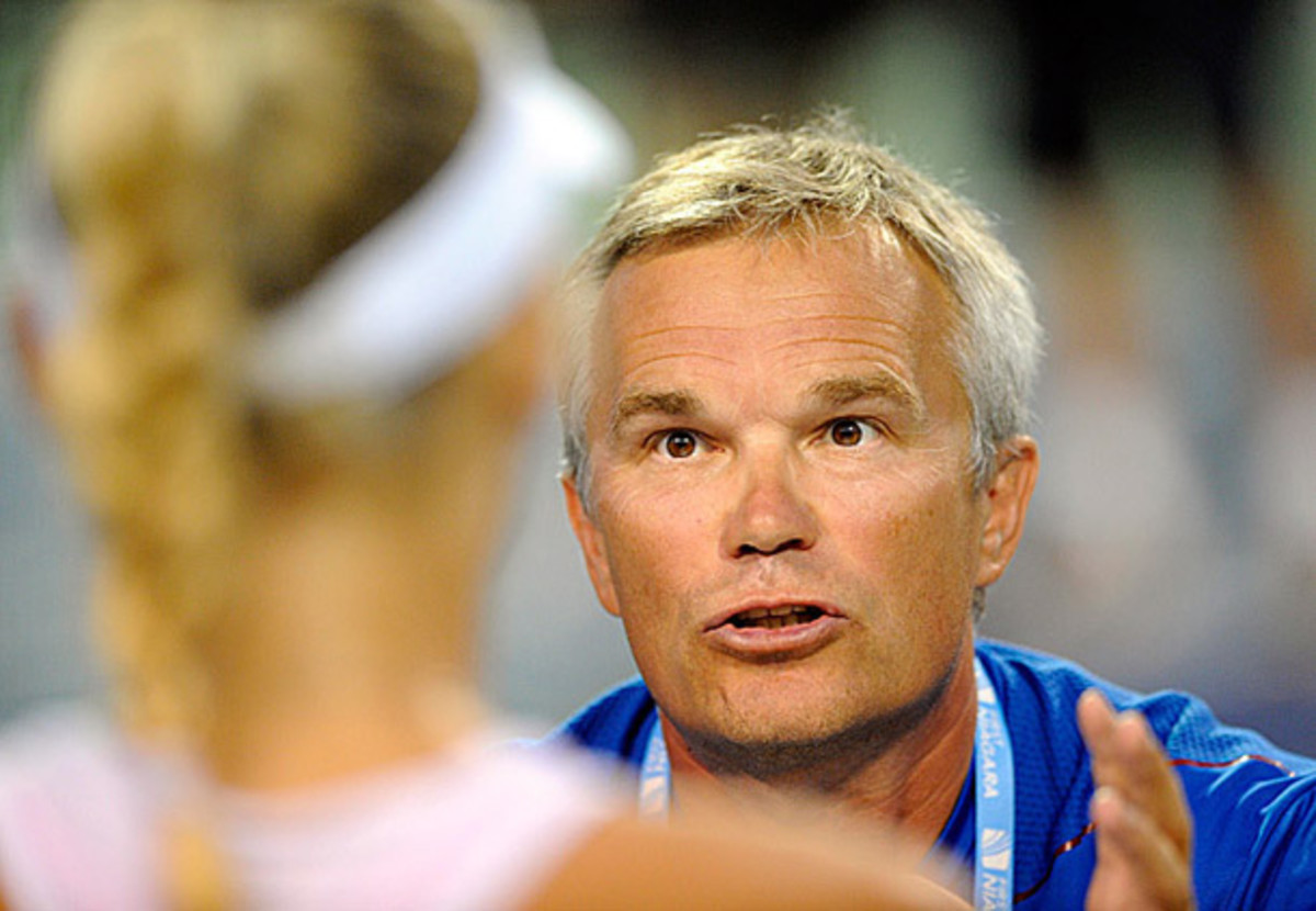 Piotr Wozniacki has acted as his daughter's primary coach throughout her career. (Fred Beckham/AP)