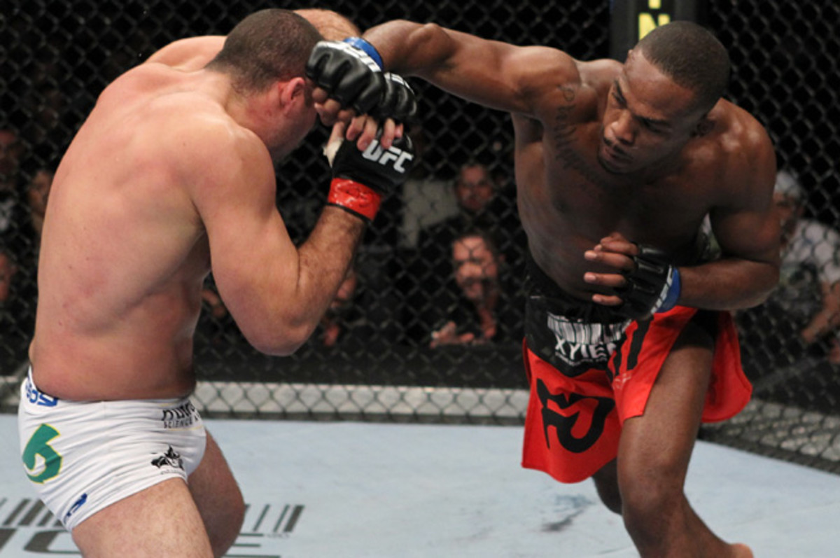 Jon Jones claimed the light heavyweight title at UFC 128 and will defend it for a sixth time Saturday.