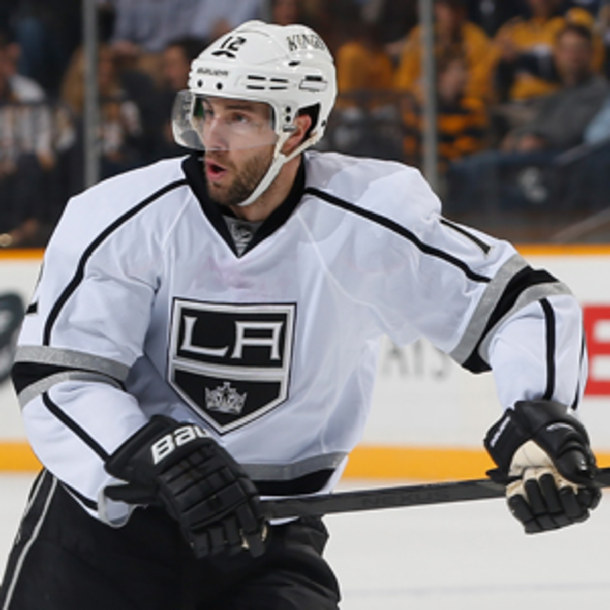 Simon Gagne scored just one goal in 11 games as a King this season. (John Russell/NHL/Getty Images)