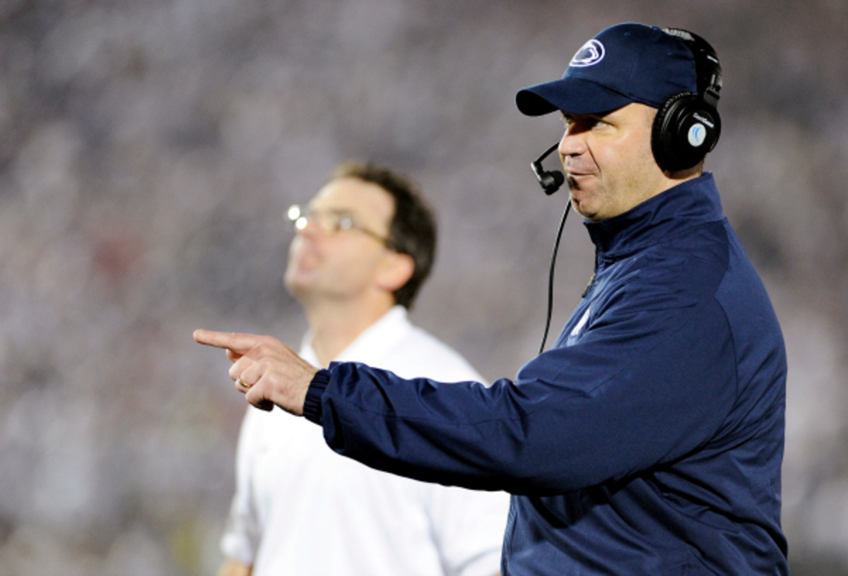 Bill O'Brien led the Nittany Lions to an 8-4 season last year and received close to a $1 million raise in his base salary. (Centre Daily Times/Getty Images)
