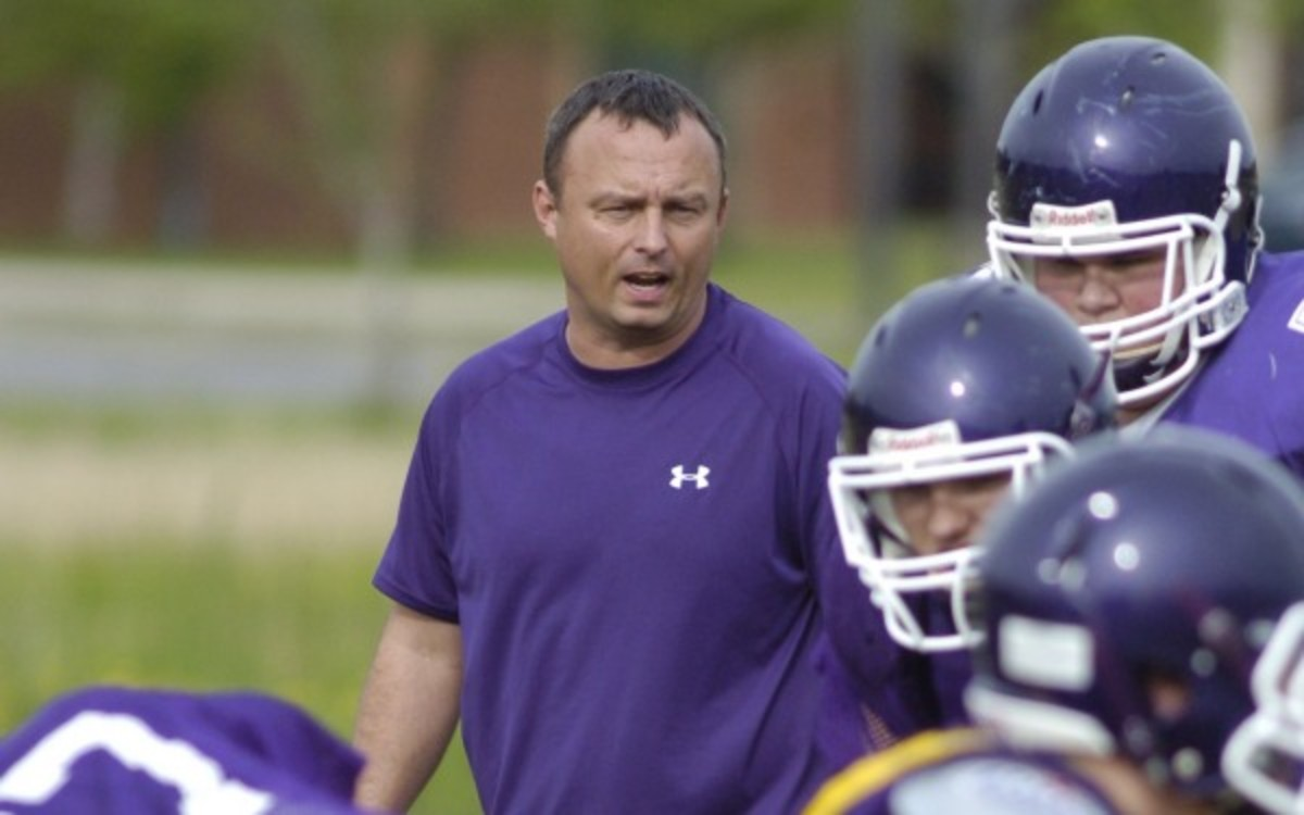 Assistant football coach Michael Schmitt was charged with vandalism. (AP Photo/Chattanooga Times Free Press, Robin Rudd)