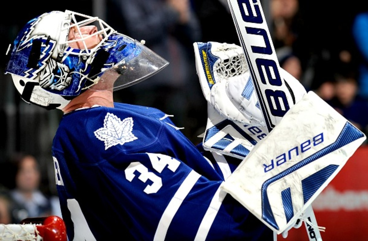 James Reimer of the Toronto Maple Leafs