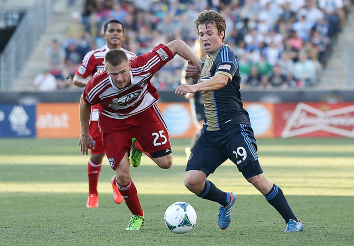 Walker Zimmerman (25) was on the mark for F.C. Dallas, which is now tied for first in the West.