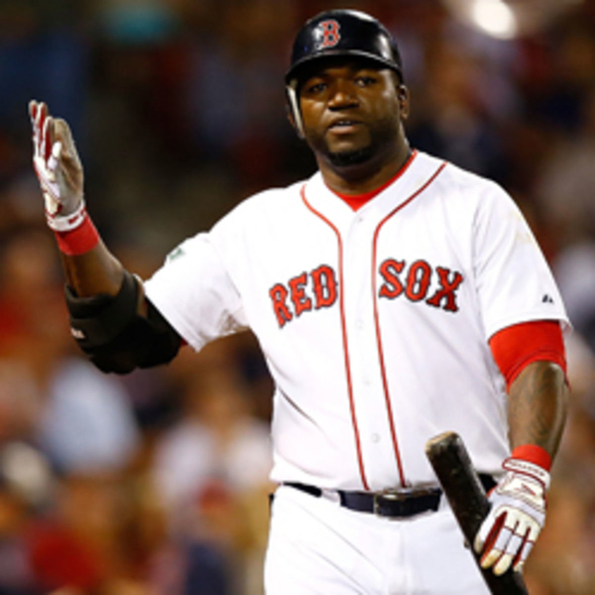 David Ortiz said a recent column questioning whether he has been using steroids is discriminatory. (Jared Wickerham/Getty Images)