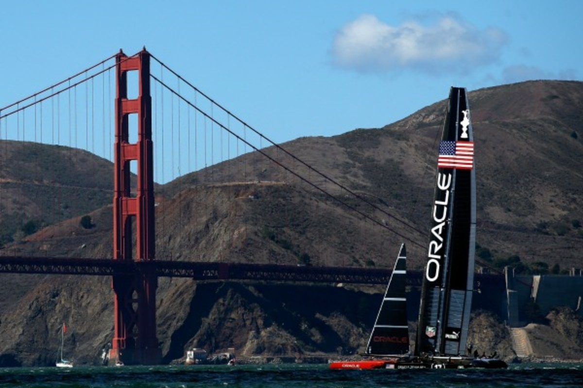 Oracle Team USA sails during the final America's Cup race in San Francisco Bay. (Ezra Shaw/Getty Images)