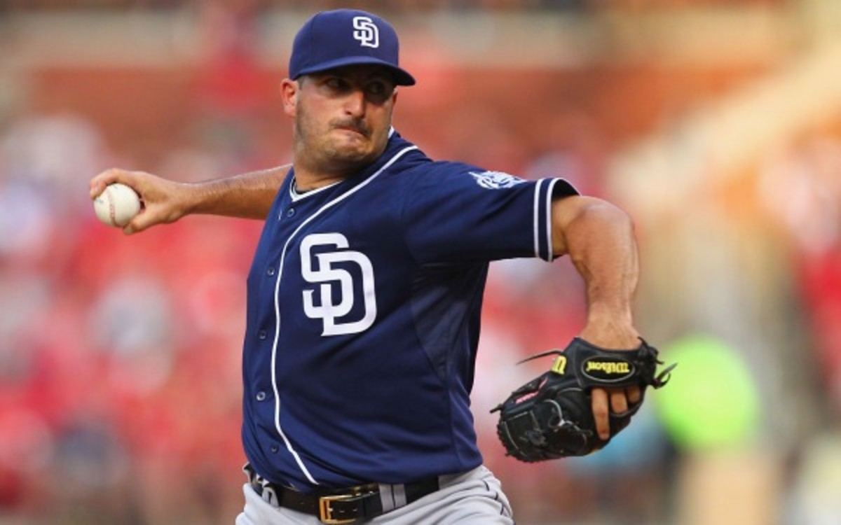 Padres pitcher Jason Marquis will miss the rest of the season with an elbow injury. (Dilip Vishwanat/Getty Images)