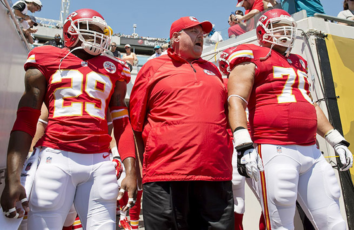 Andy Reid spent 14 years with the Eagles. He returns to Philly Thursday night as coach of the Chiefs.