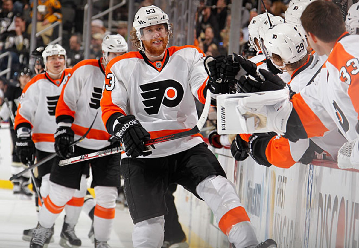 Jake Voracek, drafted seventh overall by Columbus in 2007, is feeling more at home in Philadelphia.