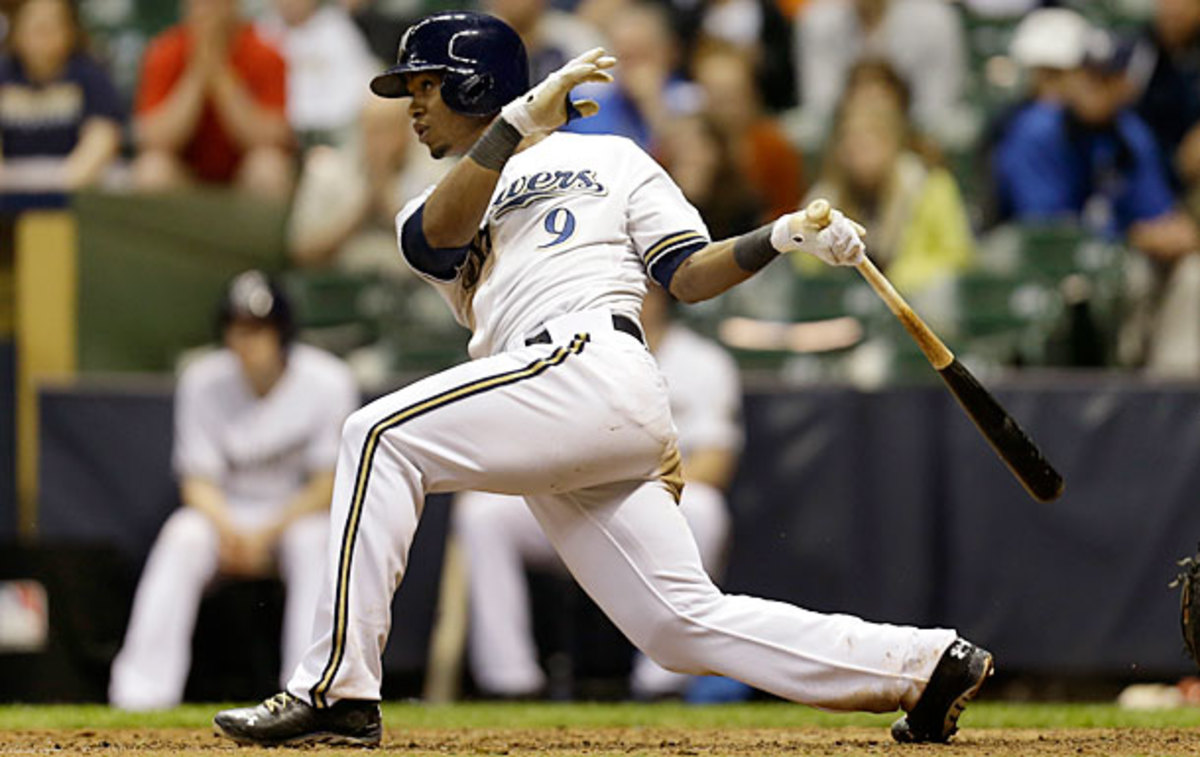 Jean Segura leads the National League in hits with 72 and batting average at .365. (Mike McGinnis/Getty Images)