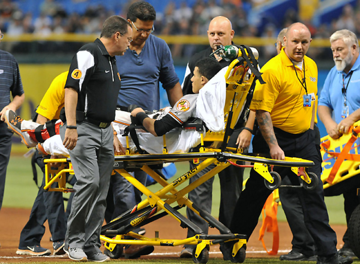 Manny Machado's season ended in Tampa Bay, but the injury was not as bad as feared.