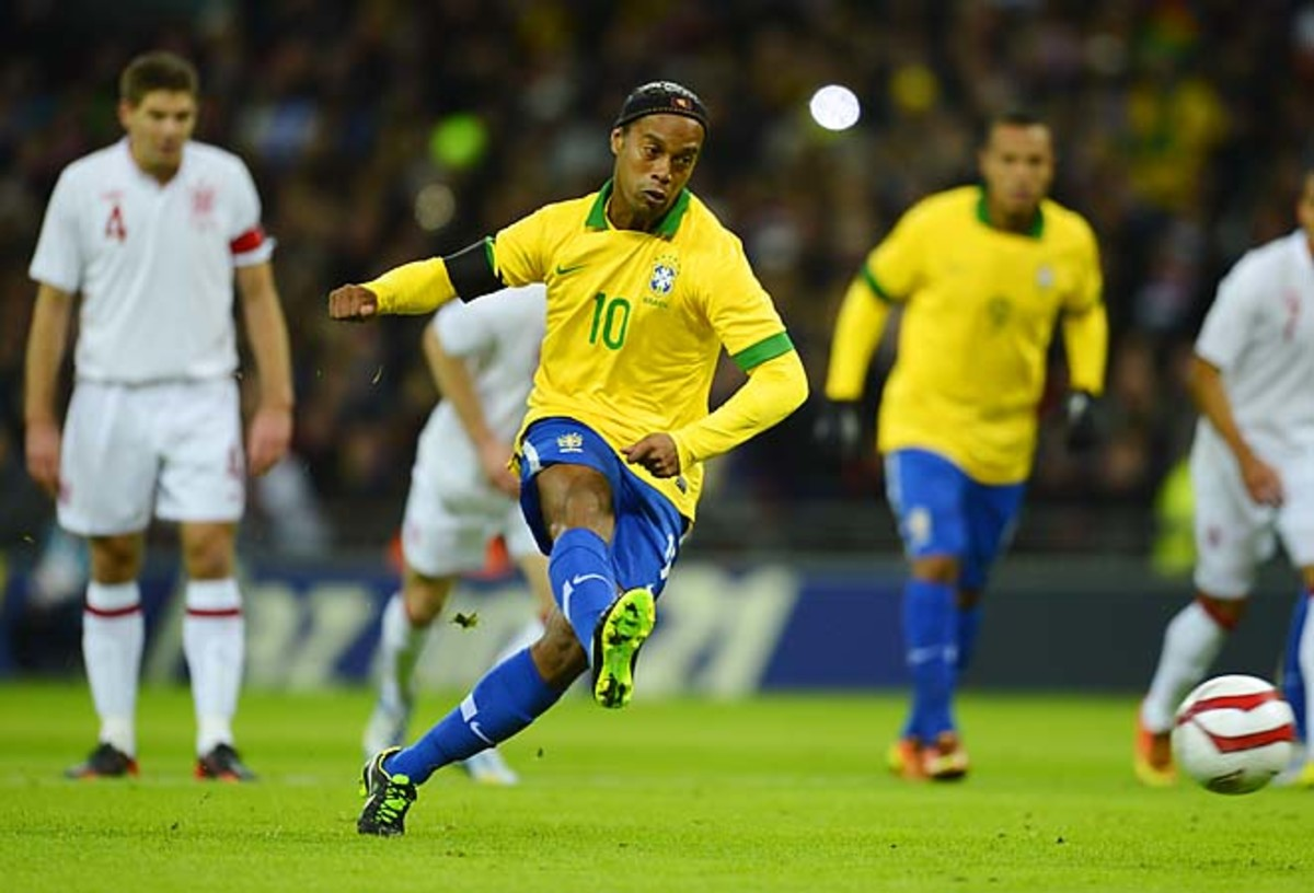 Former World Player of the Year Ronaldinho was a failure in a 2-1 loss to England in February.