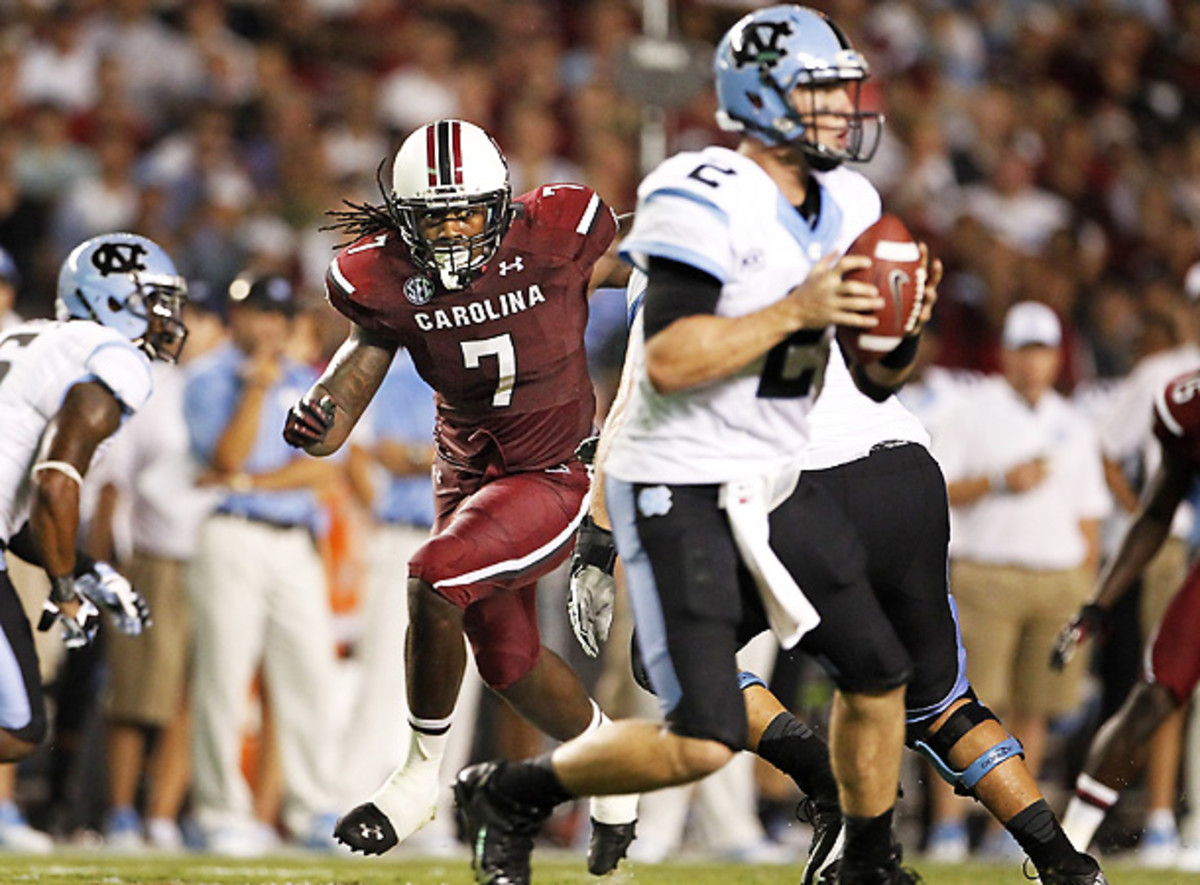 Jadeveon Clowney is constantly generating discussion among football pundits. [MCT/Sipa]