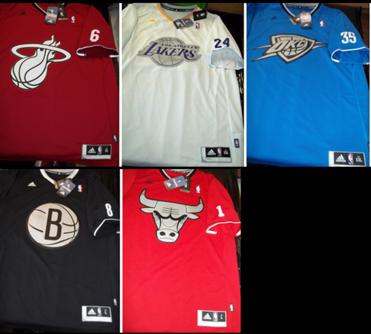 NBA's Christmas Day sleeved jersey