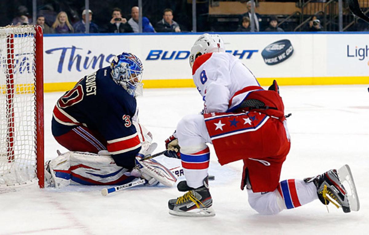 Rangers goalie Henrik Lundqvist must cool off the red-hot Alex Ovechkin.