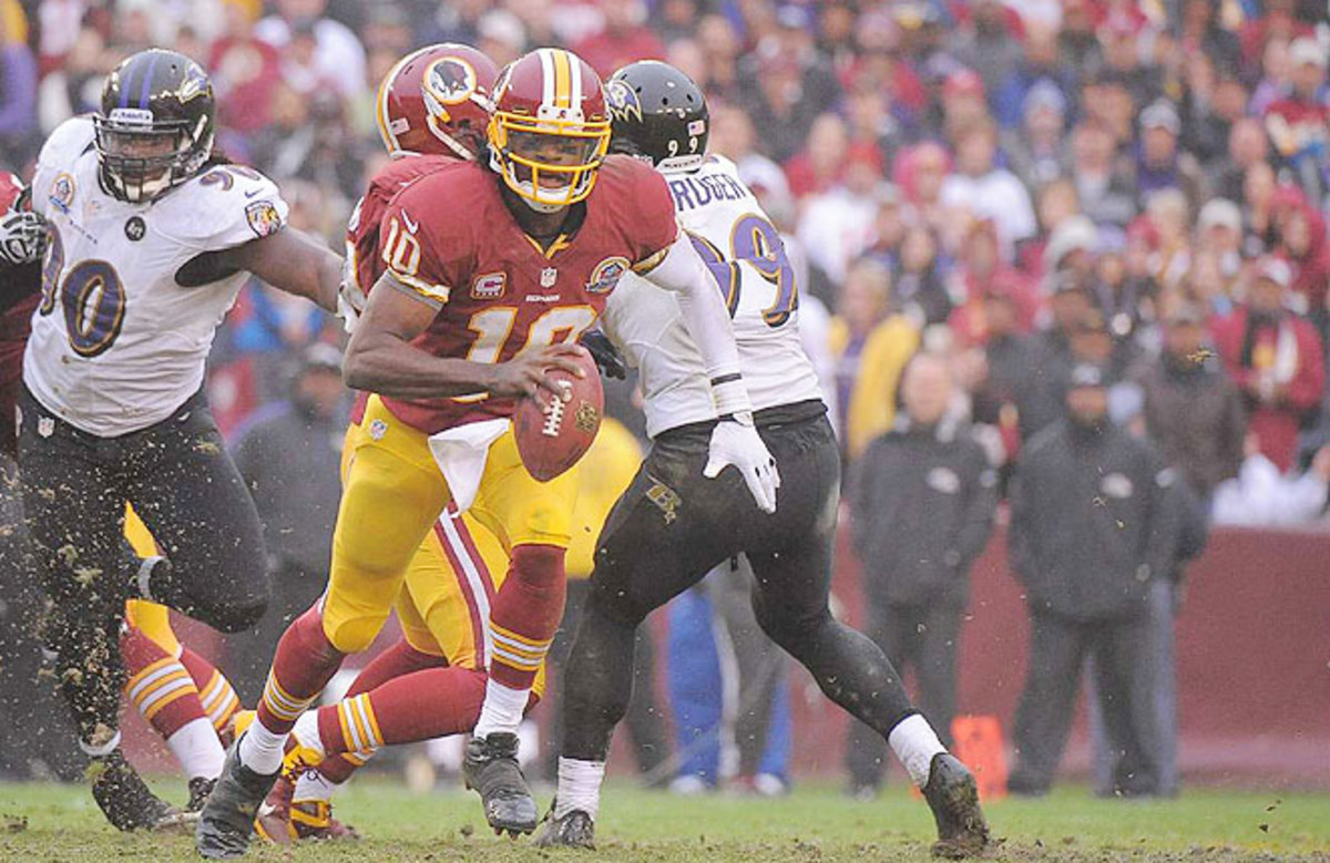 Robert Griffin III's running ability makes him a dynamic dual-threat, but also susceptible to injury.