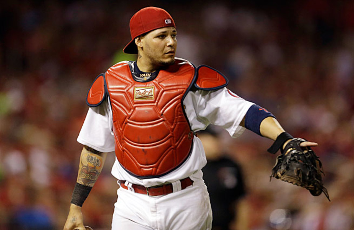 Yadier Molina leads the NL with a .345 batting average and 26 doubles but it's his defense that has him in position for the NL MVP award.