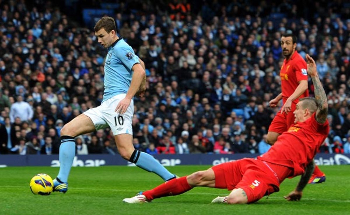Despite just 16 starts, Edin Dzeko scored 14 goals during Manchester City's 2012/13 campaign.