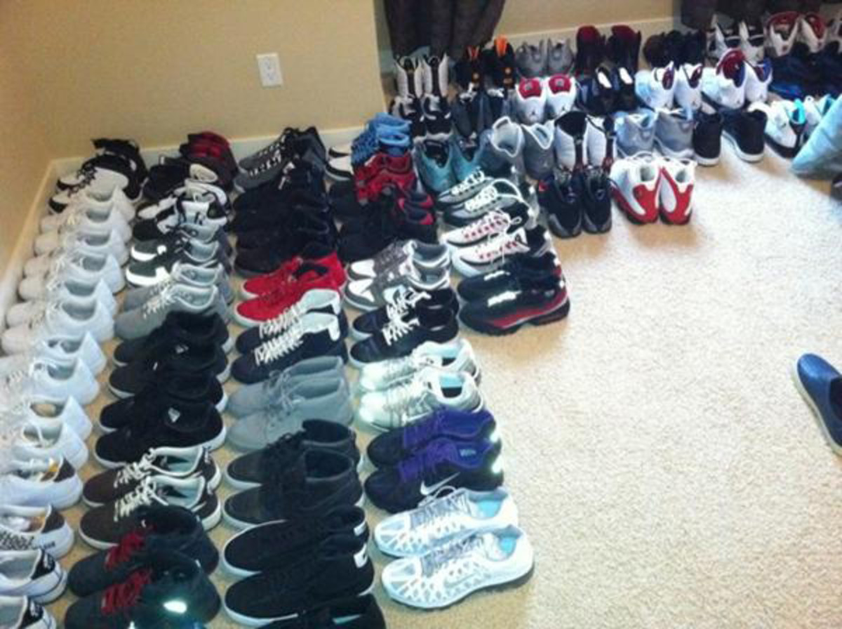 Wesley Matthews' shoe collection. (@wessywes2)