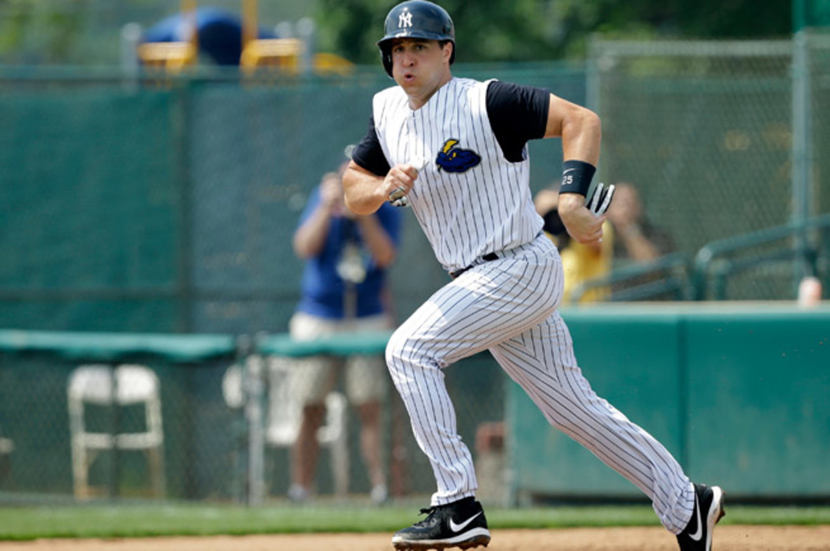 Mark Teixeira and Kevin Youkilis each went 0-2 with a walk in a rehab game with Double-A Trenton.