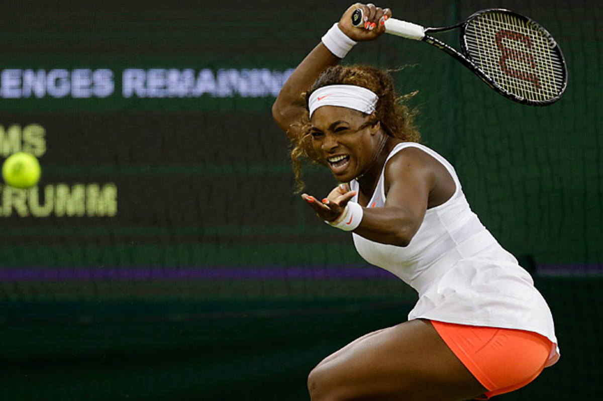 Serena Williams got her 600th career victory against Kimiko Date-Krumm in Wimbledon's third round.