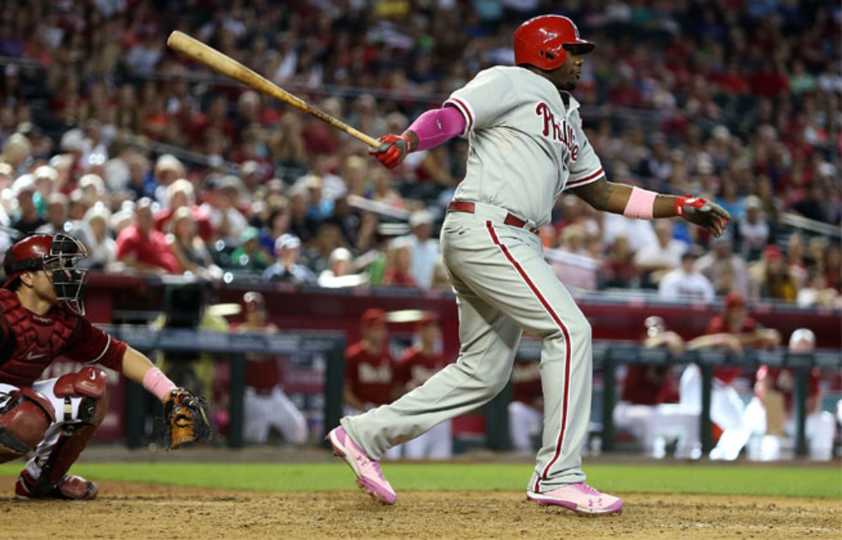 Ryan Howard is batting .266 with 11 homers and 43 RBIs this season.