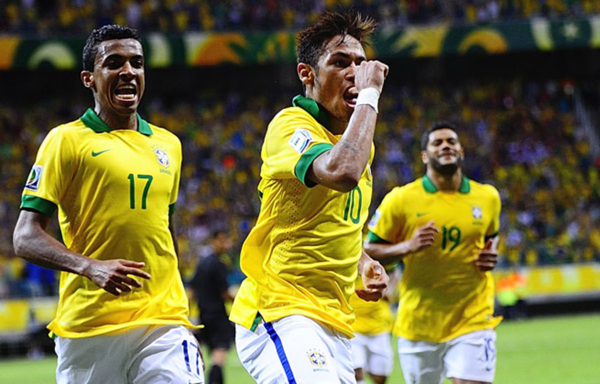 With the goal against Italy on Saturday, Neymar has scored in all three Confederations Cup games.