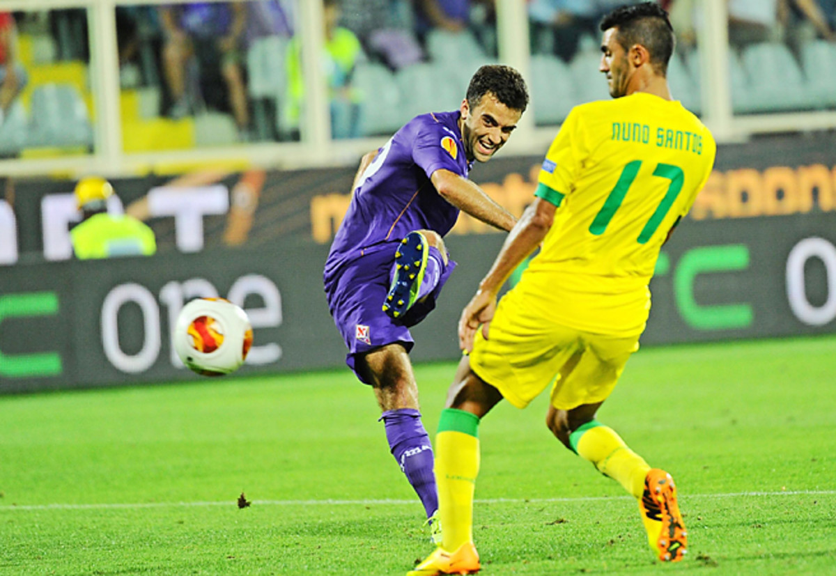 Giuseppe Rossi's first goal in more than two years led Fiorentina over Pacos Ferreira.