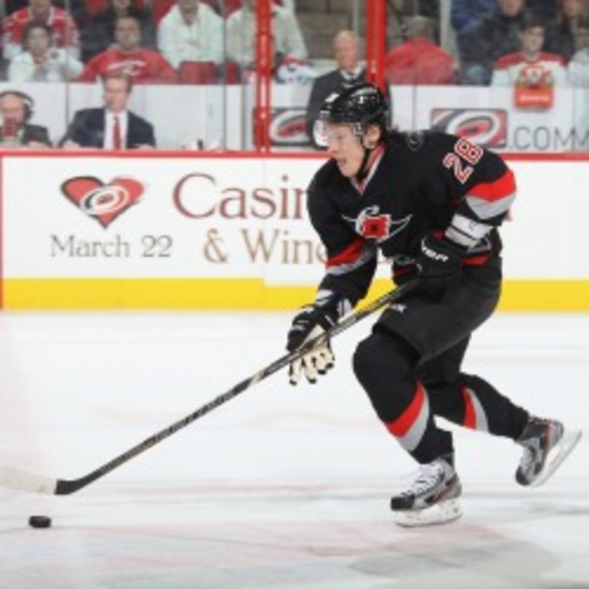 Hurricanes forward Alex Semin was locked up by the team with a 5-year deal, $35 million extension. (Gregg Forwerck/NHL/Getty Images)