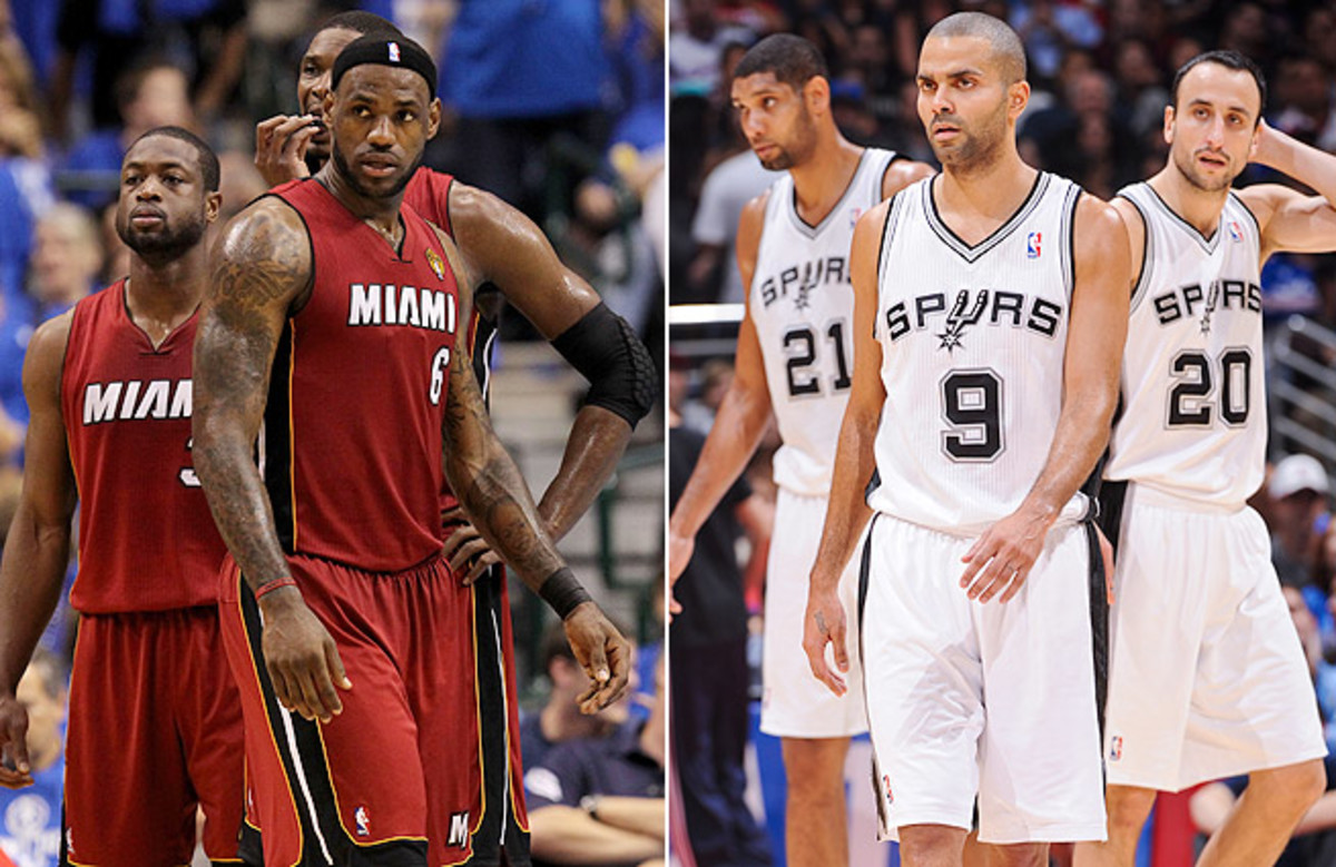 The Heat and Spurs will face off in Game 1 of the NBA Finals Thursday night in Miami at 9 p.m. ET.