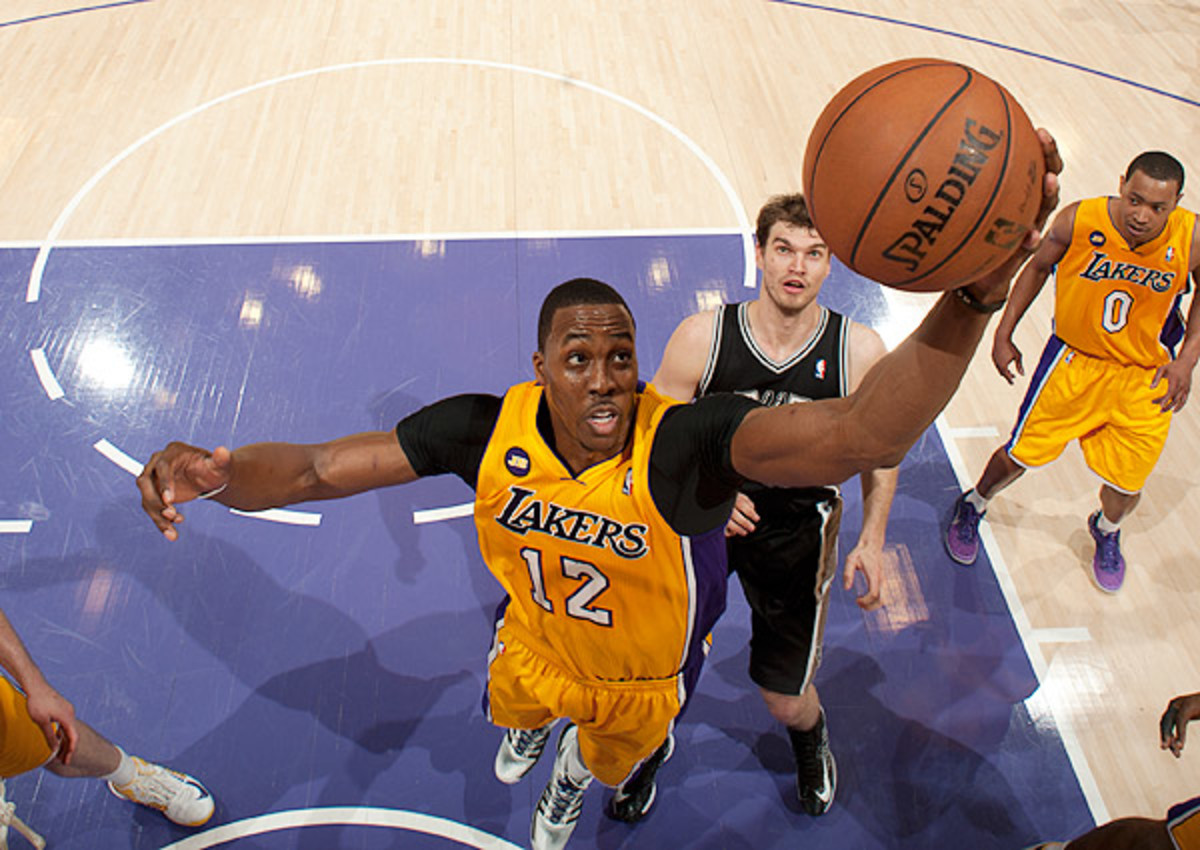 Dwight Howard averaged a league-best 12.4 rebounds per game as a Laker last season.