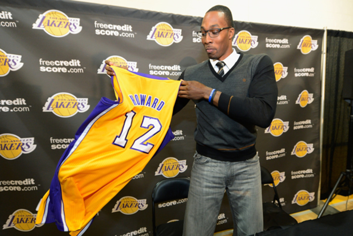Dwight Howard was a member of the Los Angeles Lakers for less than one year