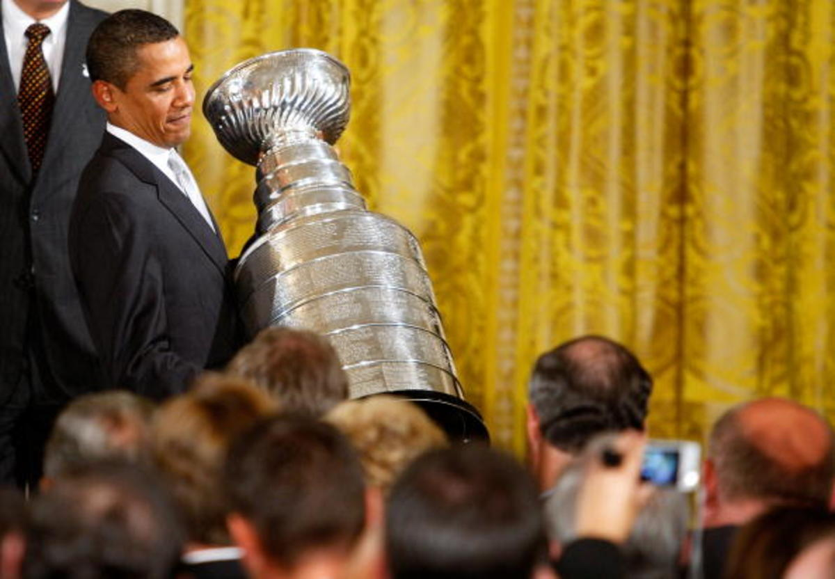 Obama Hosts Stanley Cup Champions Pittsburgh Penguins At The White House