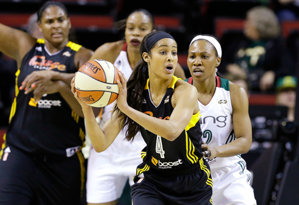 Skylar Diggins, the No. 3 pick in the WNBA draft, completed her first preseason camp with the Shock.