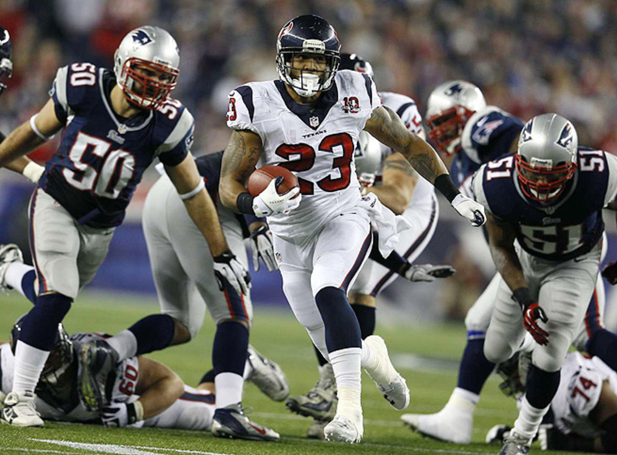 Arian Foster, arguably the Texans' best fantasy player, rushed for 1,424 yards and 15 TDs last year.