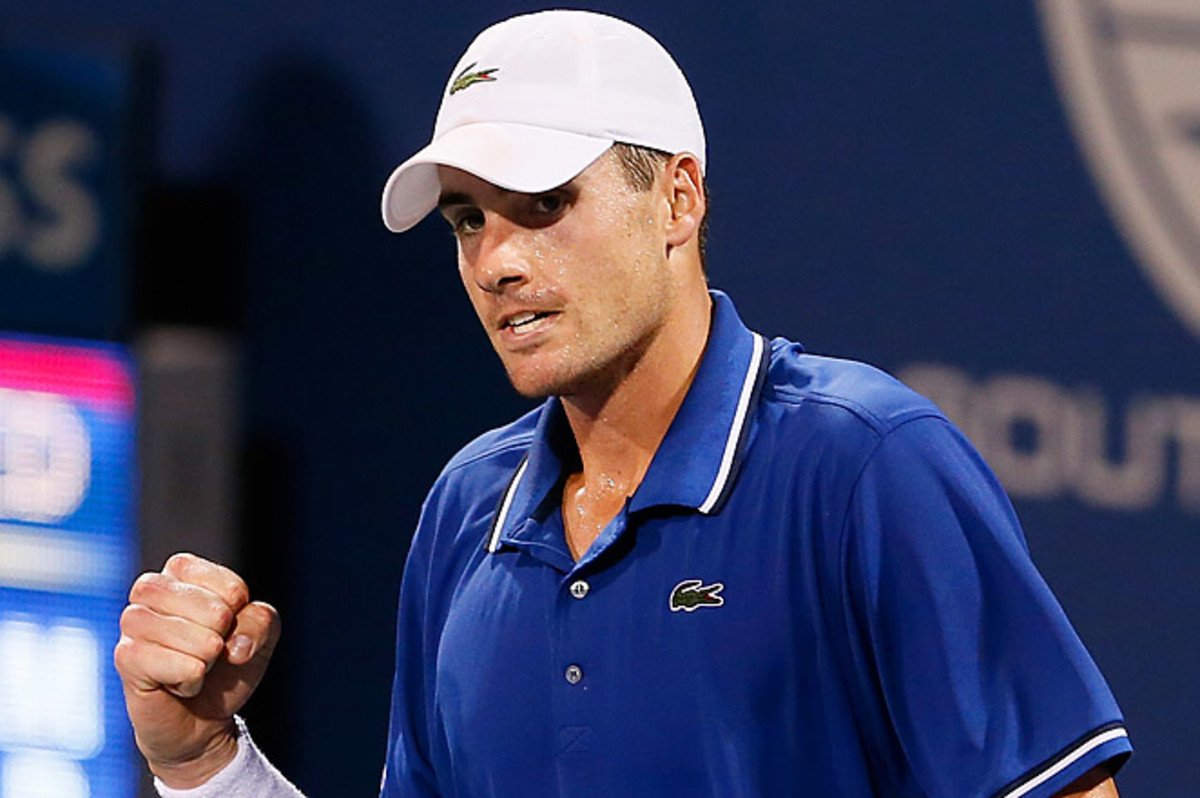 Top-seeded John Isner will now face James Blake, who beat eighth-seed Evgeny Donskoy, on Friday.