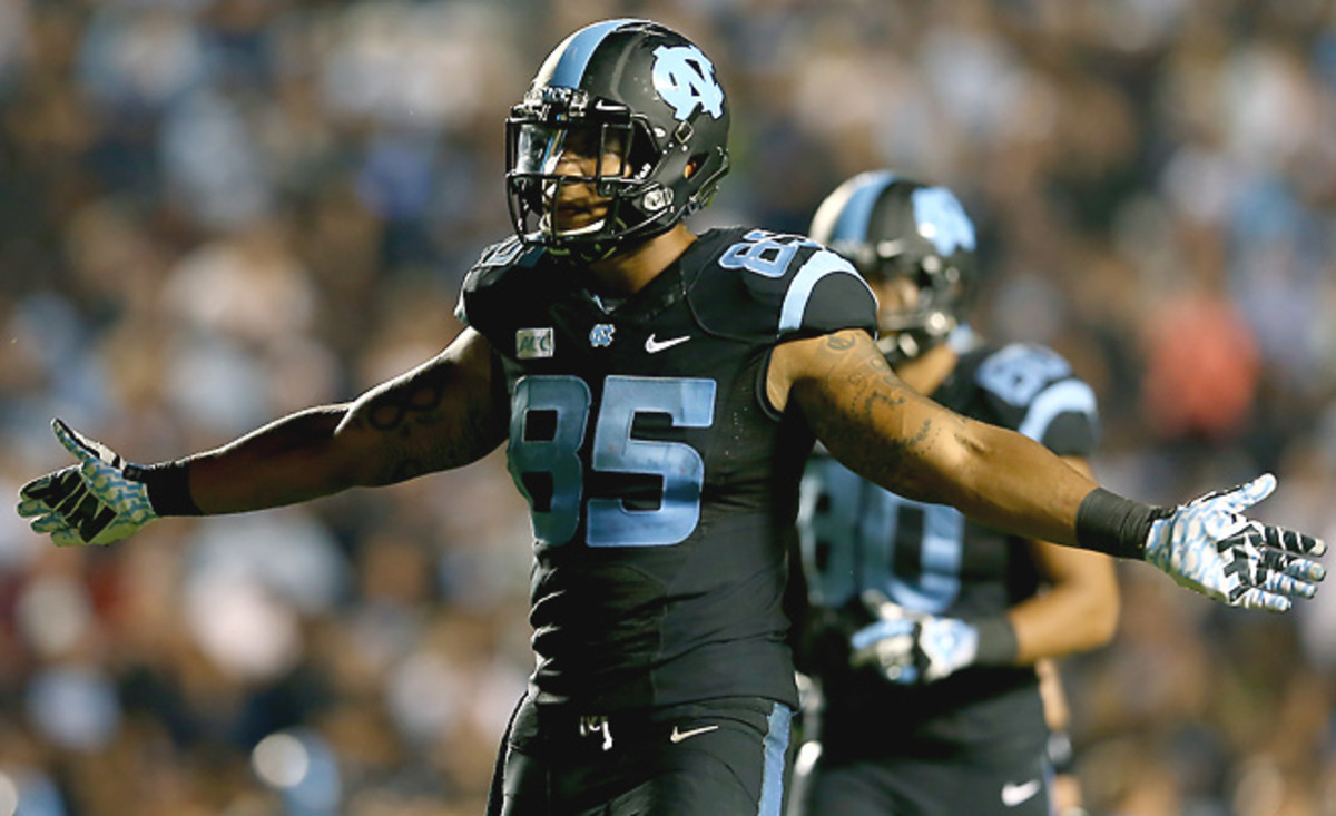 Eric Ebron already holds UNC's single-season and career records for receiving yards by a tight end.