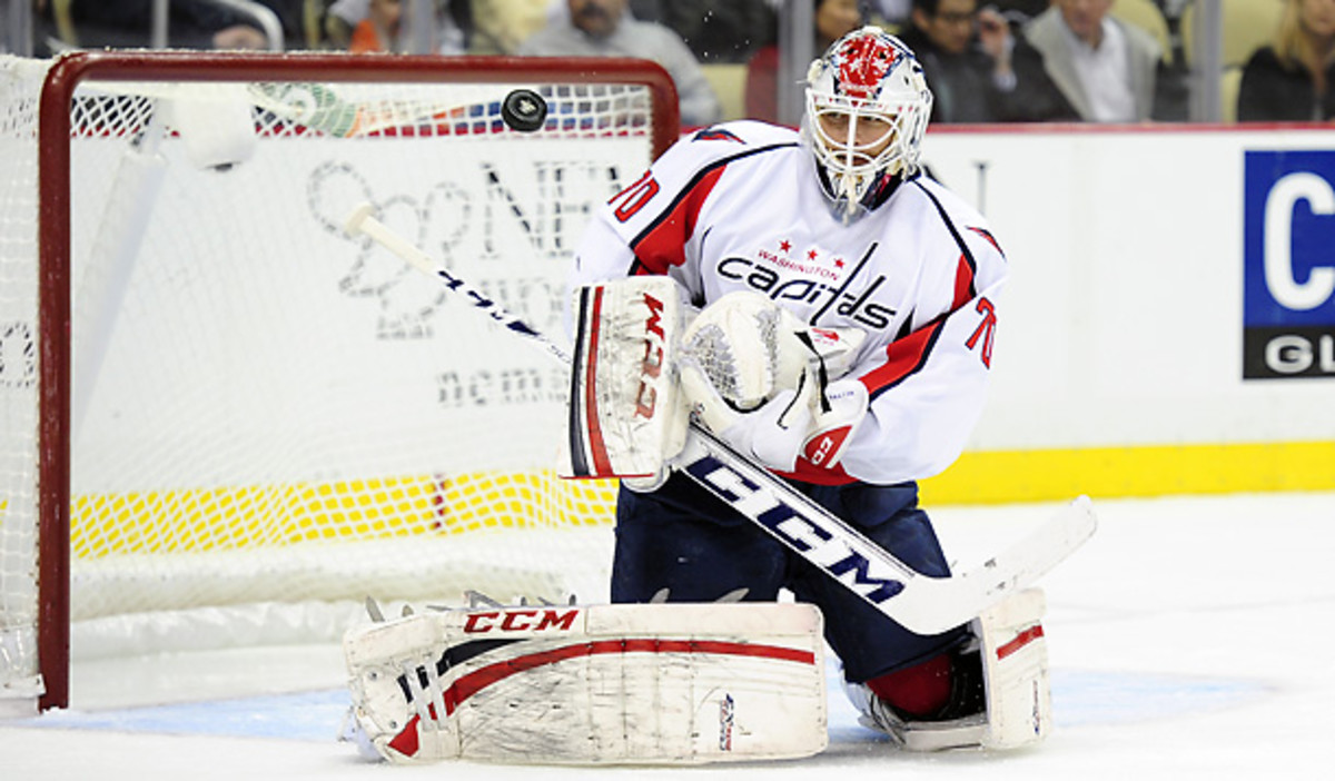Braden Holtby has had a terrible start to 2013, but improved against Florida. [Jeanine Leach/Icon SMI]