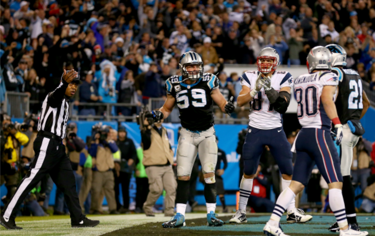 The Pathers defeated the Patriots 24-20 after a controversial reversed call to end the game. (Streeter Lecka/Getty Images)