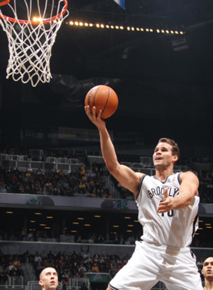 Nets forward Kris Humphries is reportedly on the trading block. (Nathaniel S. Butler/Getty Images)