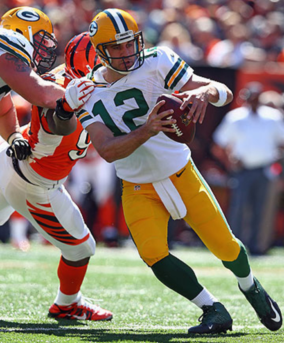 Aaron Rodgers has a career 5-17 record in games decided by four or fewer points.