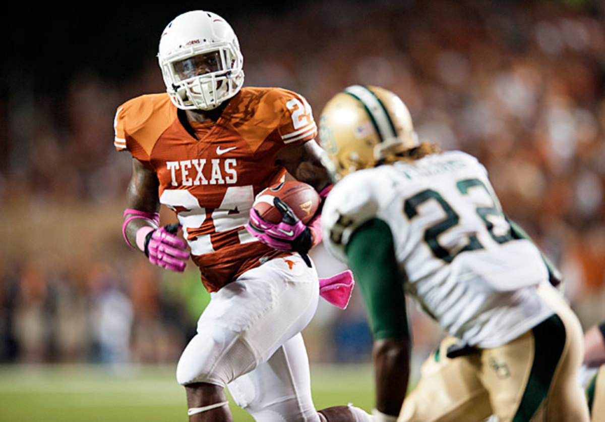 Running back Joe Bergeron and Texas will look to get by Baylor in a highly competitive Big 12 this year.